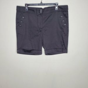 The Limited Black Flat Front  Chino Casual Shorts